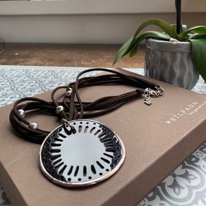Silpada silver and pen shell pendant neckl…